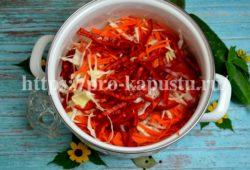 салат из капусты с овощами на зиму